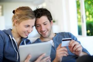 Online Einkaufen mit Kreditkarte