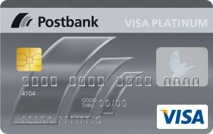 Die Postbank Visa Card Platiunum Kreditkarte